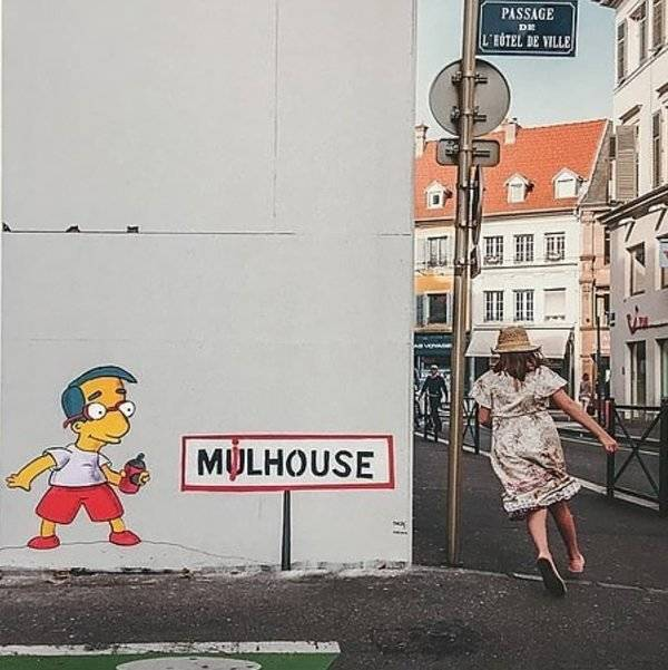 This Street Artist Doesn't Need Much To Create His Fantastic Pieces