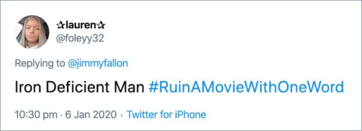Can You Ruin A Movie Title With A Single Word?