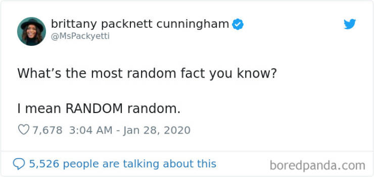 People Throw Some Completely Random Facts At Us