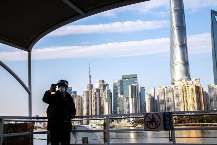 24-Million-People Shanghai Streets During Coronavirus Outbreak