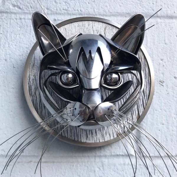 These Recycled Silverware Sculptures Are Fantastic!