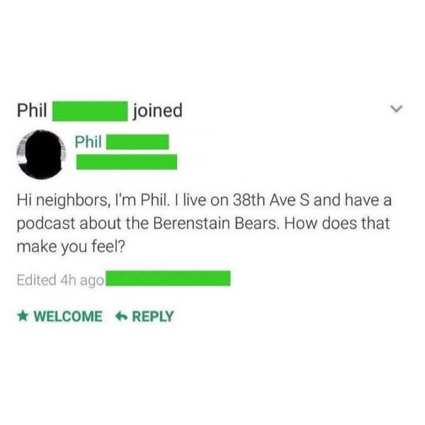 Neighbors Can Be Bad. Really Bad.