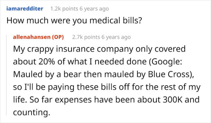 Woman Gets Mauled By A Bear, Struggles To Get Her Health Insurance