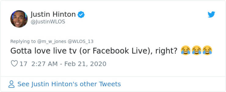 TV Reporter Didn't Know He Had His Facebook Filters On During A Live Report…