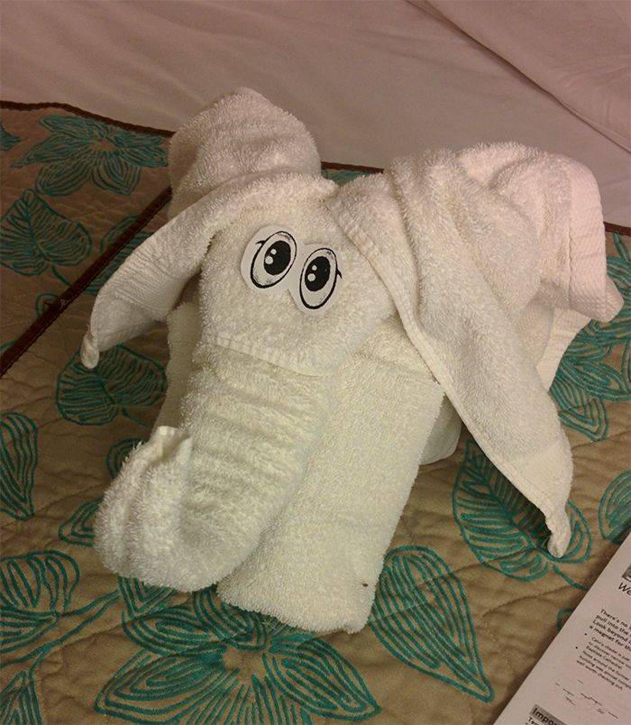 Folded Towels Are An Art!