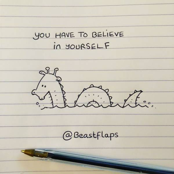 Artist Draws Doodles Instead Of Writing Notes During Meetings