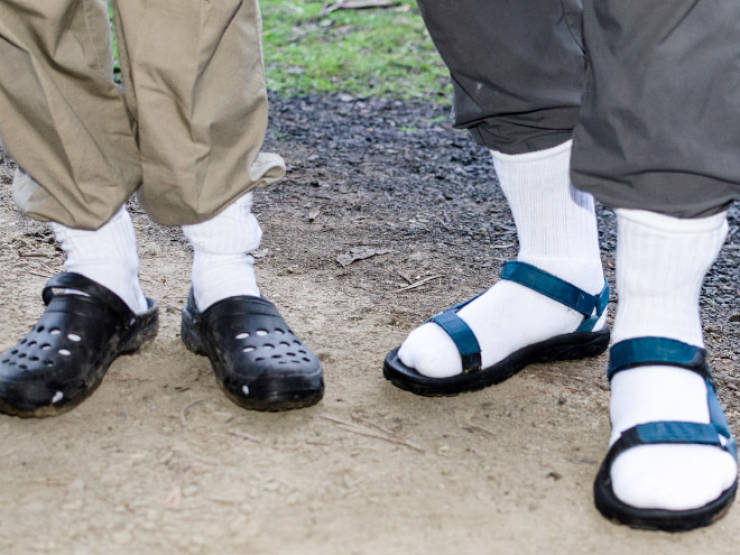 Men In Socks And Sandals Are Ready To Start Your Week!