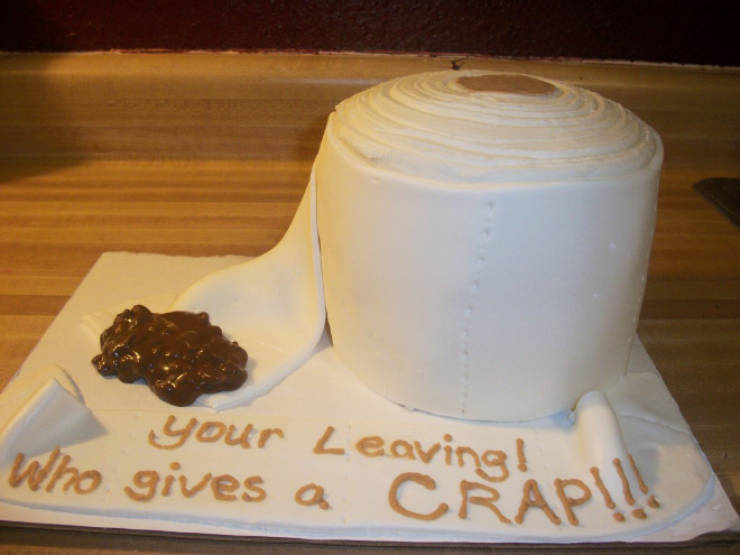 Wow, These Farewell Cakes Are RUDE!
