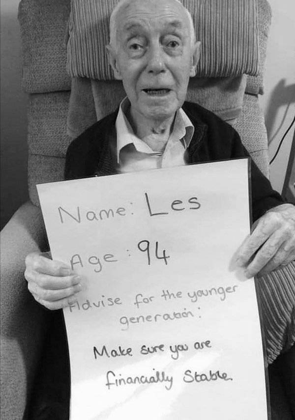 Elderly People Share Simple Truths For The Younger Generation