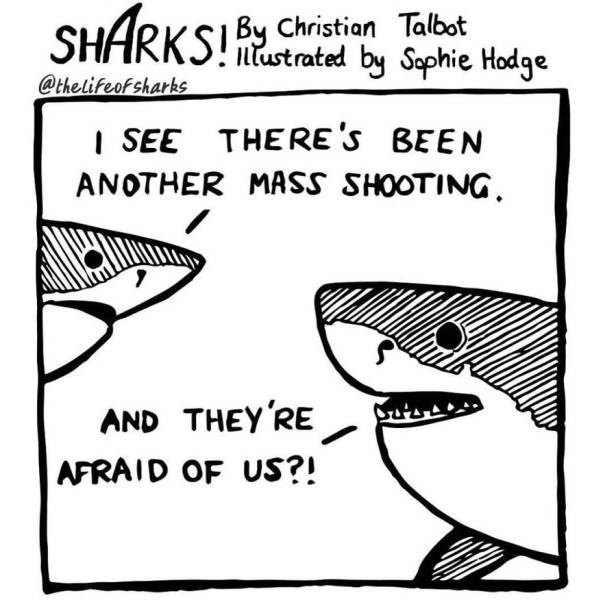 These Comics Give Us Funny Insights Into Shark Lives
