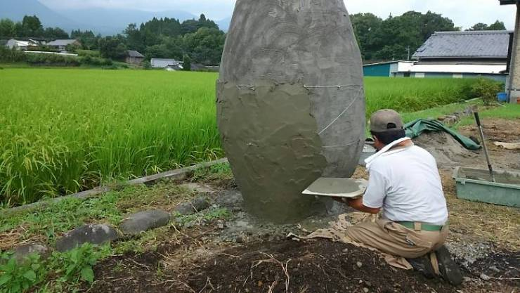 Japanese Elderly Couple Creates A Real-Life Version Of Totoro Bus Stop