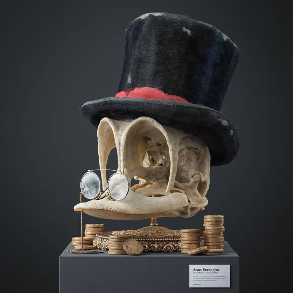 Czech Artist Creates Fossil Skulls Of Popular Cartoon Characters