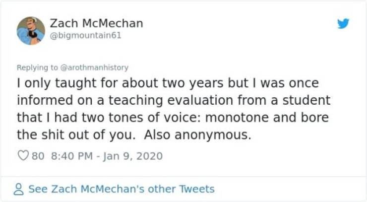 Everyone Loves Course Evaluations, Especially Savage Ones!