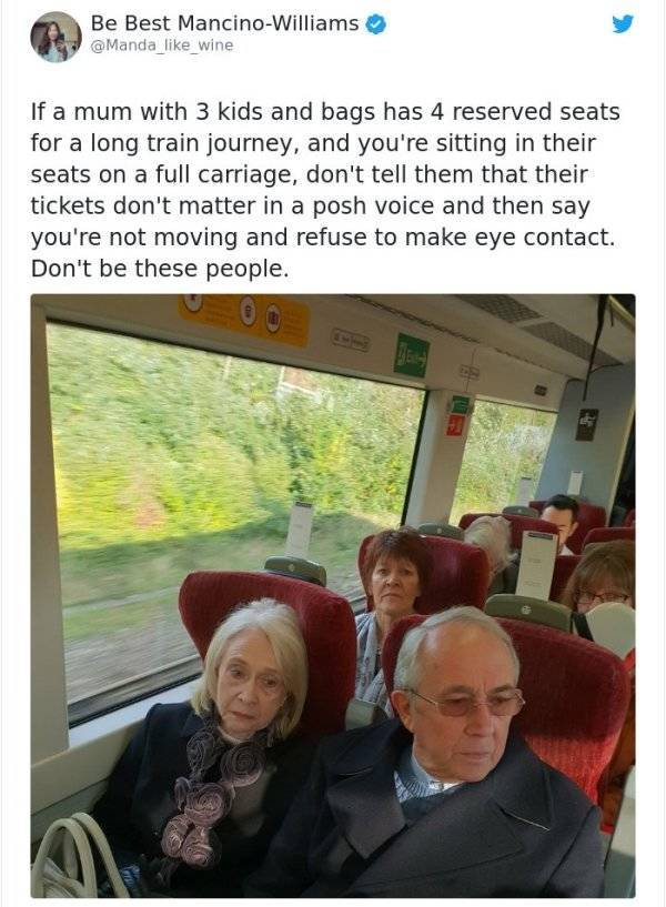 Never Be Like These People…
