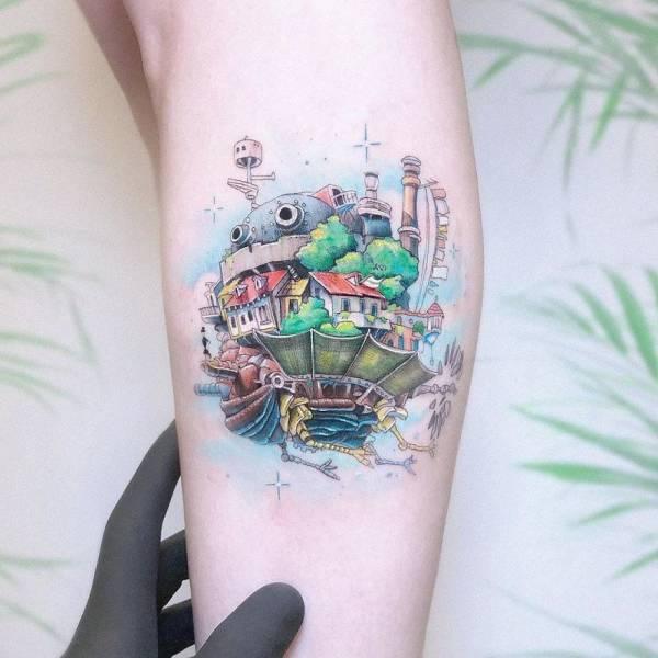 Artist Creates Beautiful Pop Culture-Themed Micro Tattoos