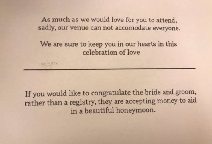 Weddings Attract Some Questionable People…