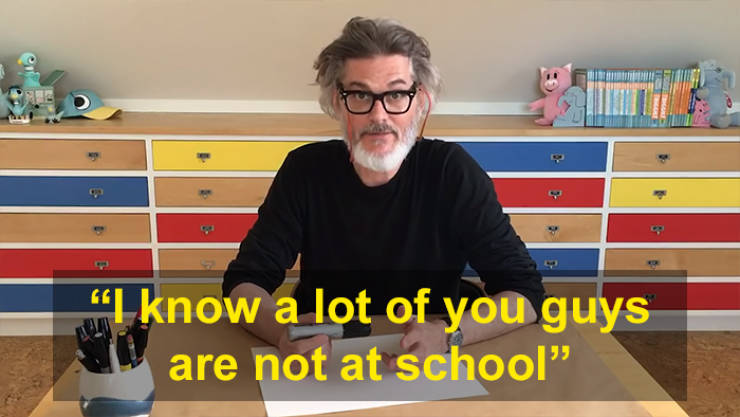 Bestselling Children's Author Mo Willems Teaches Kids During Quarantine