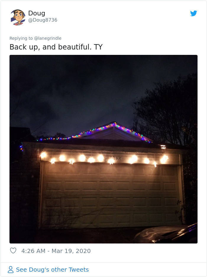 People Start To Put Christmas Lights Back Up. Because Reasons