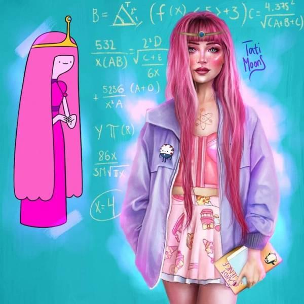 If Cartoon Girls Grew Up In Modern Times…