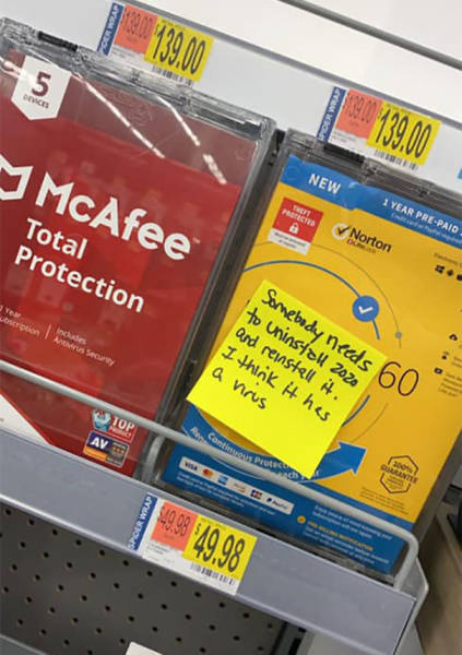 Woman Leaves Funny Notes Around Walmart To Force People To Smile