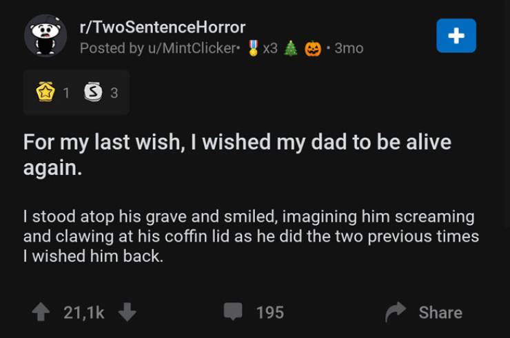 Horror In Just Two Sentences