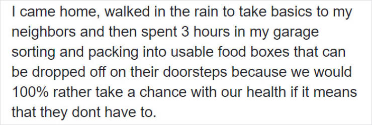 Woman Explains Why She's Hoarding Groceries During Quarantine