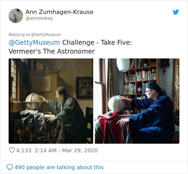 "Museums Started A ""Reproduce Art At Home"" Challenge, And People Joined Right Away"