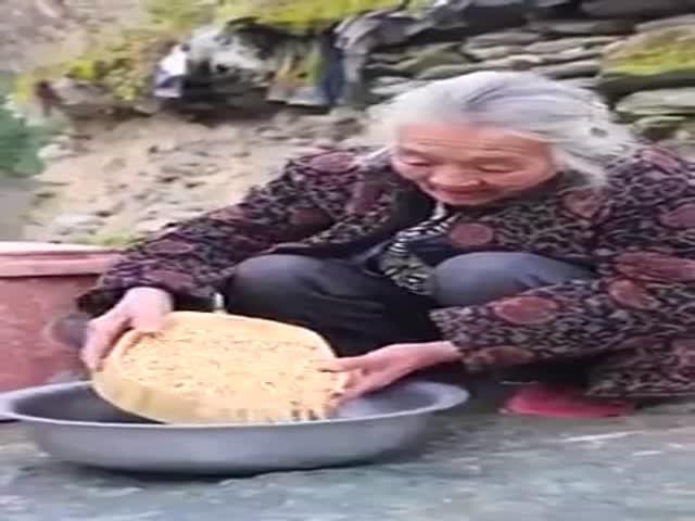 Grandma Shows How To Make Tofu