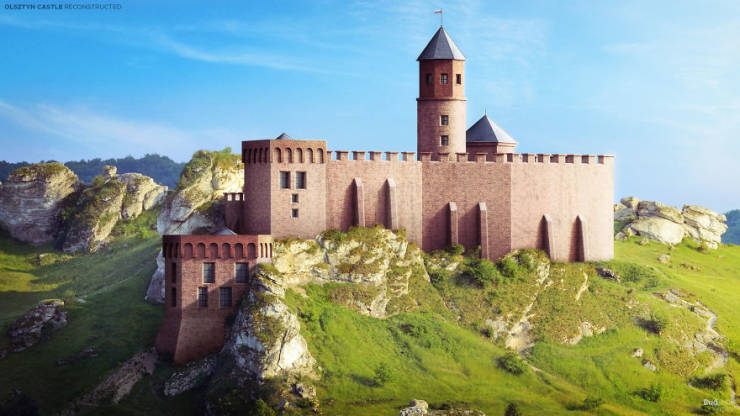 European Castles Before Time Destroyed Them