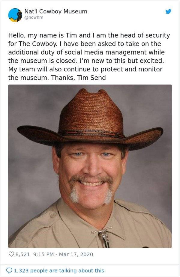 Museum's Twitter Is Ran By A Great Security Officer