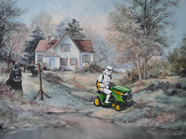 Did Thrift Store Paintings Really Need Those Pop-Culture Characters?