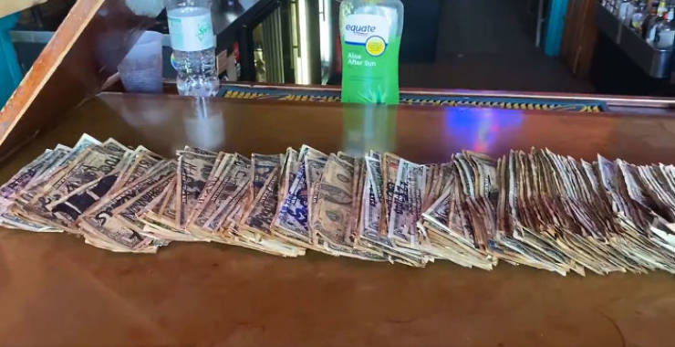 "Bar Owner Removes ""Memory"" Dollars To Pay His Workers"