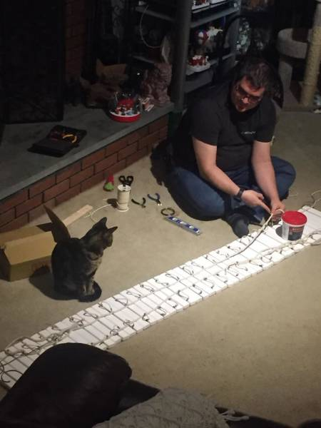 Man Builds Beautiful Cat Towers, And Now Everybody On The Internet Wants Them