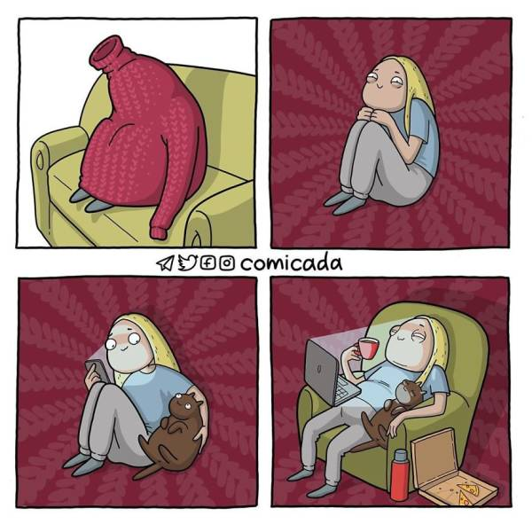 Russian Artist Satirically Illustrates All Sorts Of Girl Problems And Other Things
