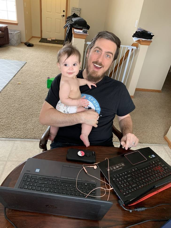 Try Working From Home With Small Children Around
