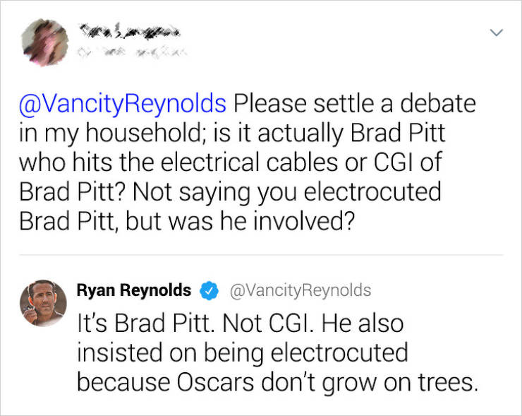 Ryan Reynolds Responds To Random Tweets And Makes People's Days Brighter
