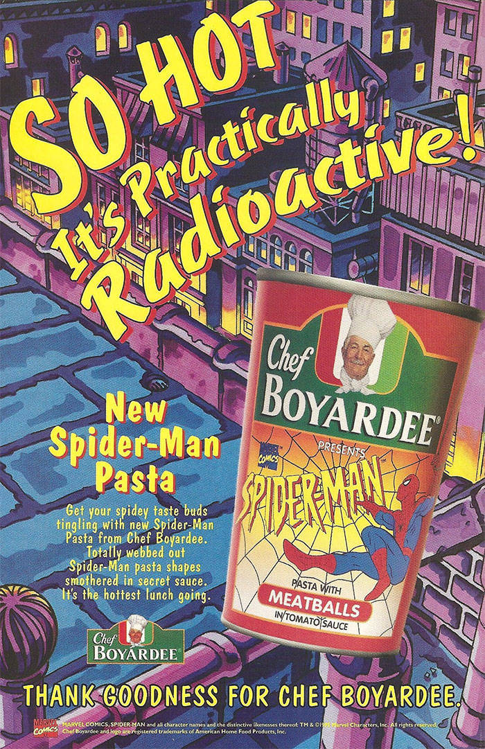 Guy Had A Can Of Spider-Man Pasta From 1995
