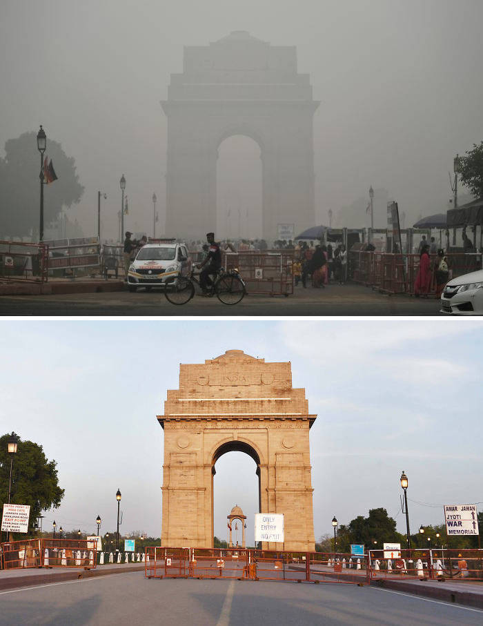 Photos Showing Just How Much Quarantine Helps To Reduce Pollution