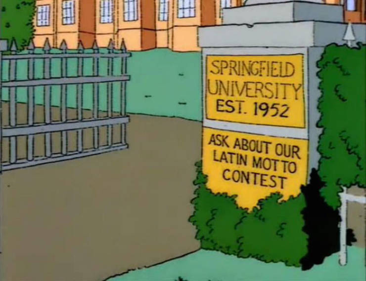 """""""The Simpsons"""" Always Have All The Best Signs"""