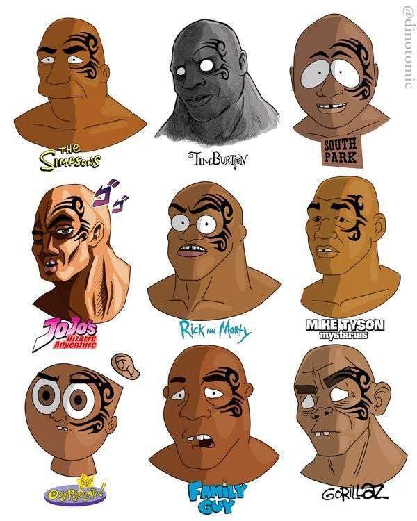 Artist Turns Celebrities Into Popular Cartoon Characters