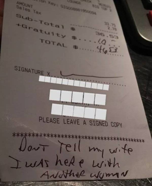 Not The Tips They Expected…