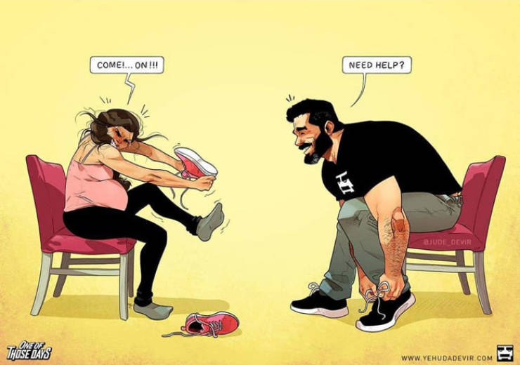 Artist Illustrates The Real Truths Of His Everyday Life With Wife And A Baby Daughter