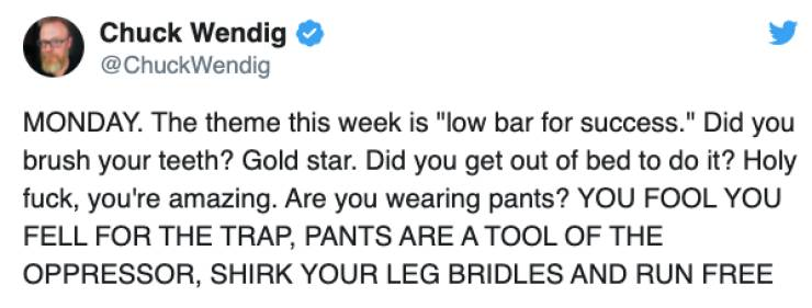 Who Needs Pants Anyway…