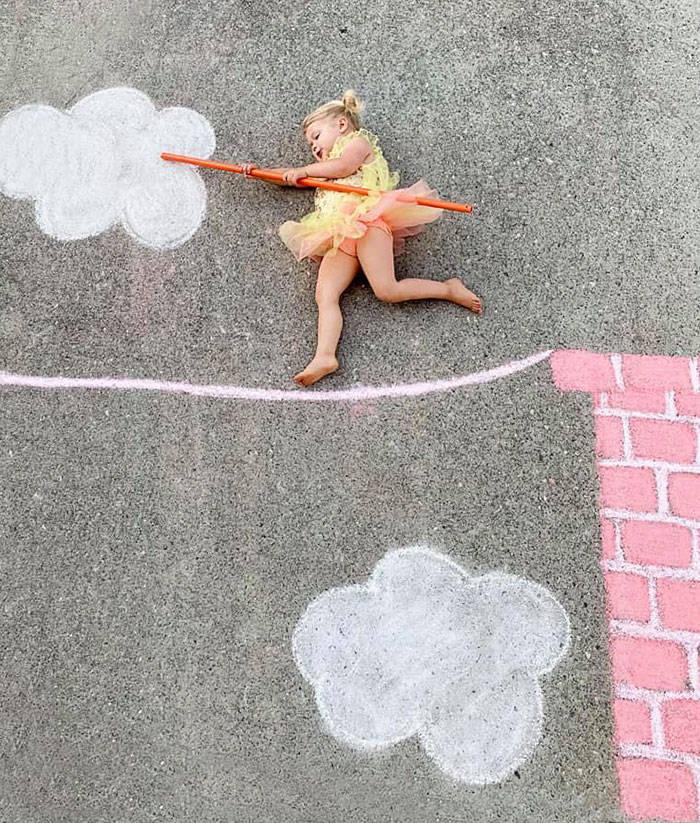 This Family Quarantine-Travels Via Chalk