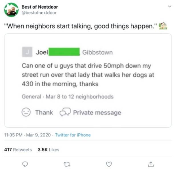 Things People Find On Nextdoor…