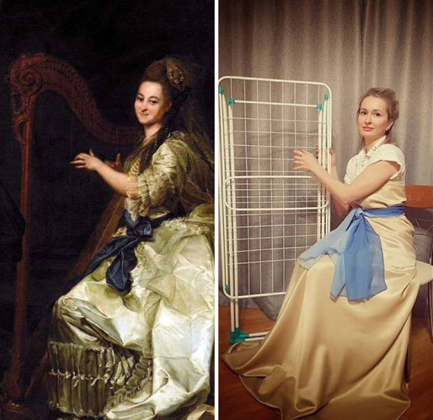 Art Stays At Home With These Recreations From Social Media