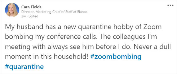 Husband Dresses Up For Every Zoom Conference… His Wife Is Having