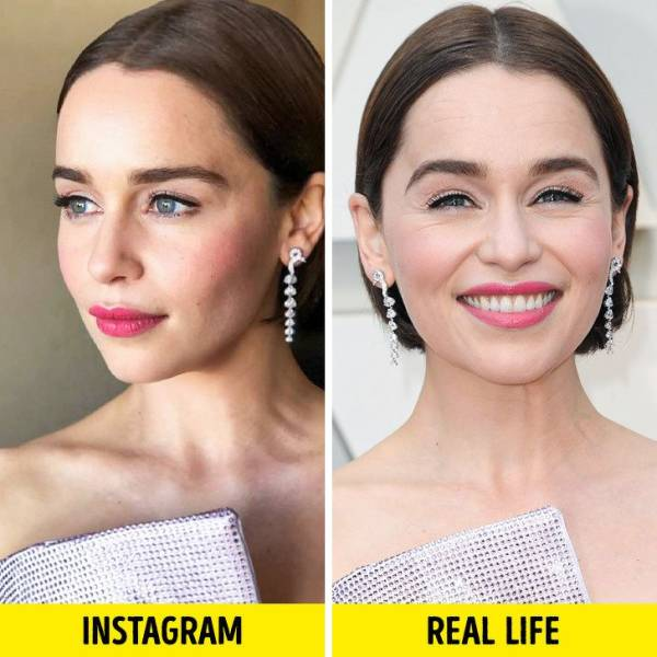 Celebs On Instagram And In Real Life