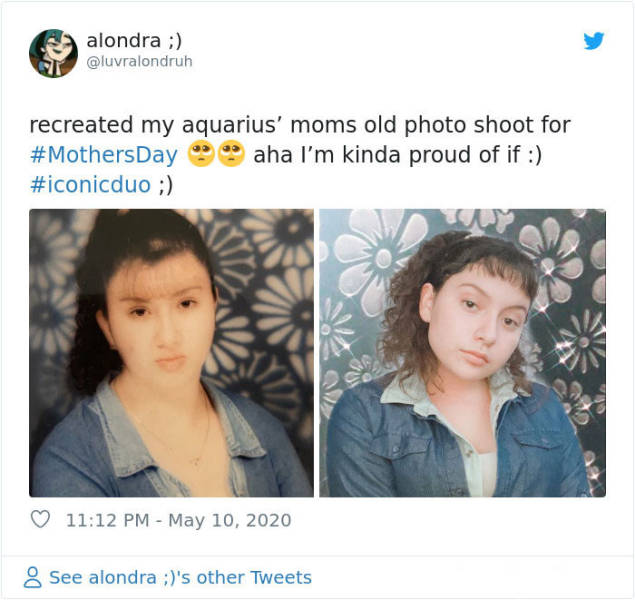 Daughters Try To Copy Their Mothers' Vintage Looks For Mother's Day, And No DNA Tests Are Needed Here