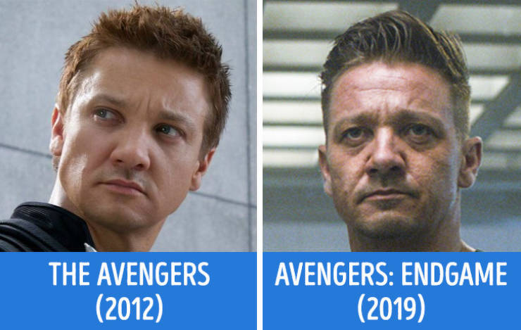 Avengers In The First Movie Vs. In The Last One